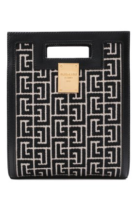 Женский сумка-тоут 1945 small BALMAIN черно-белого цвета, арт. WN1BK657/TJGH | Фото 1