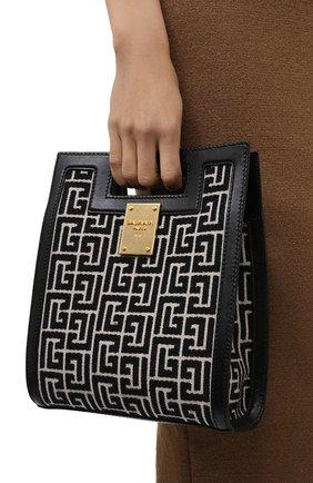 Женский сумка-тоут 1945 small BALMAIN черно-белого цвета, арт. WN1BK657/TJGH | Фото 2