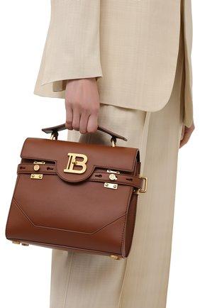 Женская сумка buzz 23 BALMAIN коричневого цвета, арт. WN1DB526/LVPT | Фото 2