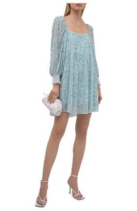 Женское платье с пайетками ALICE + OLIVIA голубого цвета, арт. CC104E60537   Фото 2