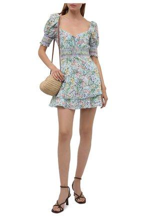 Женское хлопковое платье ALICE + OLIVIA разноцветного цвета, арт. CC104P16506   Фото 2