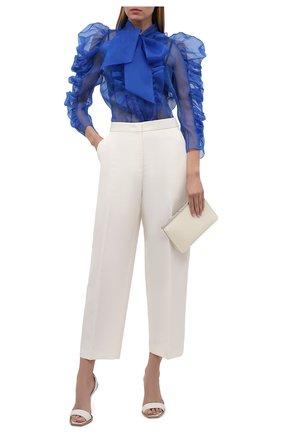 Женская шелковая блузка ZUHAIR MURAD синего цвета, арт. SHS21308/0RSI004 | Фото 2