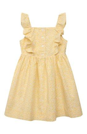 Детское хлопковый сарафан POLO RALPH LAUREN желтого цвета, арт. 311835363 | Фото 1
