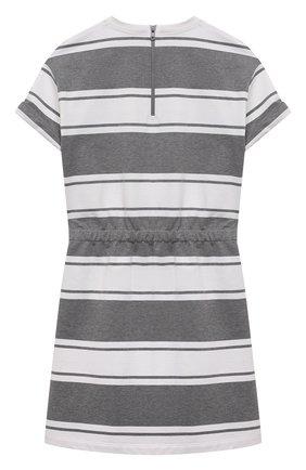 Детское хлопковое платье BRUNELLO CUCINELLI серого цвета, арт. BH981A005C | Фото 2
