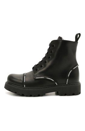 Детские кожаные ботинки DSQUARED2 черного цвета, арт. 68587/RUNNER/28-35 | Фото 2