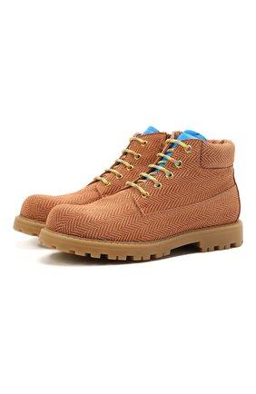 Детские кожаные ботинки RONDINELLA коричневого цвета, арт. 11200-7B/6393/37-39 | Фото 1
