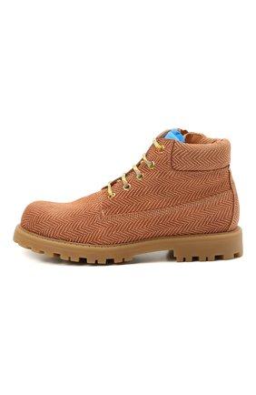 Детские кожаные ботинки RONDINELLA коричневого цвета, арт. 11200-7B/6393/37-39 | Фото 2