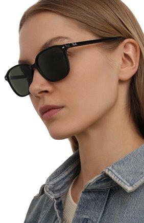 Женские солнцезащитные очки RAY-BAN черного цвета, арт. 2193-901/31 | Фото 2