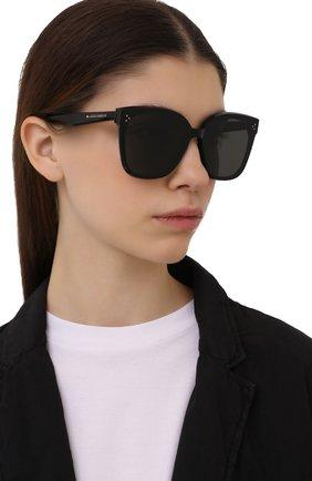 Женские солнцезащитные очки GENTLE MONSTER черного цвета, арт. RICK 01 | Фото 2