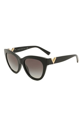 Женские солнцезащитные очки VALENTINO черного цвета, арт. 4089-50018G | Фото 1