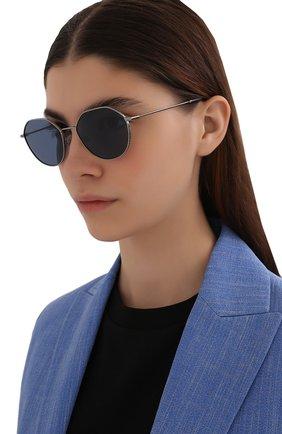 Женские солнцезащитные очки DOLCE & GABBANA синего цвета, арт. 2271-04/80 | Фото 2 (Тип очков: С/з; Оптика Гендер: оптика-унисекс; Очки форма: Круглые)