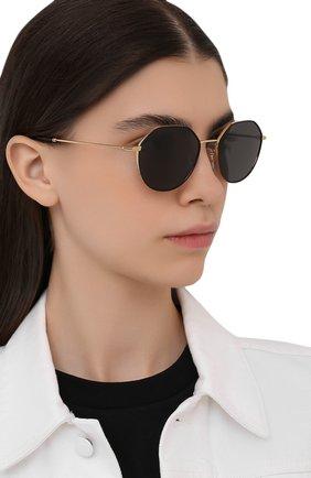 Женские солнцезащитные очки DOLCE & GABBANA черного цвета, арт. 2271-131187 | Фото 2 (Тип очков: С/з; Очки форма: Круглые; Оптика Гендер: оптика-унисекс)