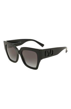 Женские солнцезащитные очки VALENTINO черного цвета, арт. 4082-50018G   Фото 1