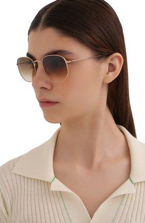 Женские солнцезащитные очки RAY-BAN коричневого цвета, арт. 3548-001/51 | Фото 2