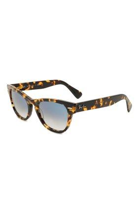 Женские солнцезащитные очки RAY-BAN коричневого цвета, арт. 2201-13323F | Фото 1