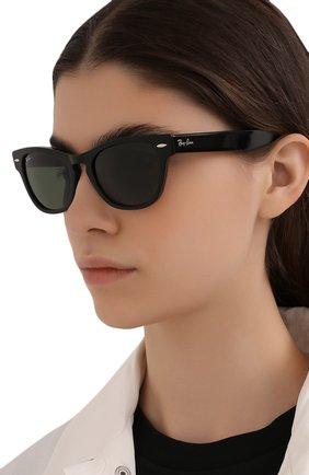Женские солнцезащитные очки RAY-BAN черного цвета, арт. 2201-901/31 | Фото 2