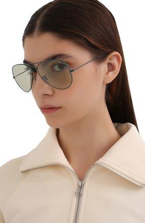 Женские солнцезащитные очки RAY-BAN бирюзового цвета, арт. 3025-9225T1 | Фото 2