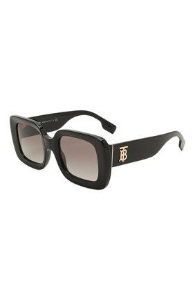 Женские солнцезащитные очки BURBERRY черного цвета, арт. 4327-300111   Фото 1 (Тип очков: С/з; Оптика Гендер: оптика-женское; Очки форма: Прямоугольные)