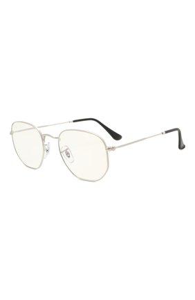 Женские солнцезащитные очки RAY-BAN серебряного цвета, арт. 3548-003/BL | Фото 1