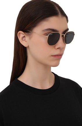 Женские солнцезащитные очки RAY-BAN золотого цвета, арт. 3548N-001/R5 | Фото 2