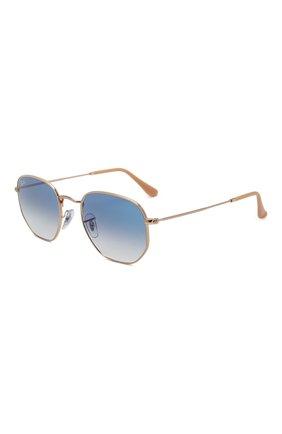 Женские солнцезащитные очки RAY-BAN синего цвета, арт. 3548-001/3F | Фото 1