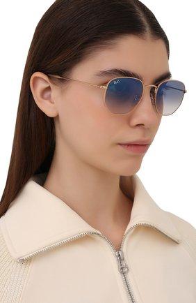 Женские солнцезащитные очки RAY-BAN синего цвета, арт. 3548-001/3F | Фото 2