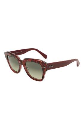 Женские солнцезащитные очки RAY-BAN бордового цвета, арт. 2186-1323BH | Фото 1