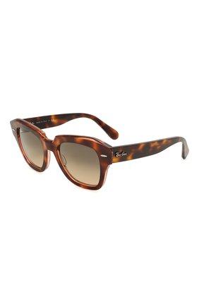 Женские солнцезащитные очки RAY-BAN коричневого цвета, арт. 2186-1324BG | Фото 1