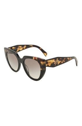 Женские солнцезащитные очки PRADA коричневого цвета, арт. 14WS-3890A7   Фото 1