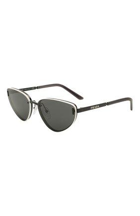 Женские солнцезащитные очки PRADA черного цвета, арт. 57WS-1AB05B | Фото 1 (Тип очков: С/з; Оптика Гендер: оптика-женское; Очки форма: Cat-eye)