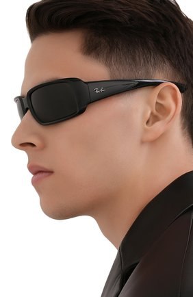 Мужские солнцезащитные очки RAY-BAN черного цвета, арт. 4338-601/71 | Фото 2