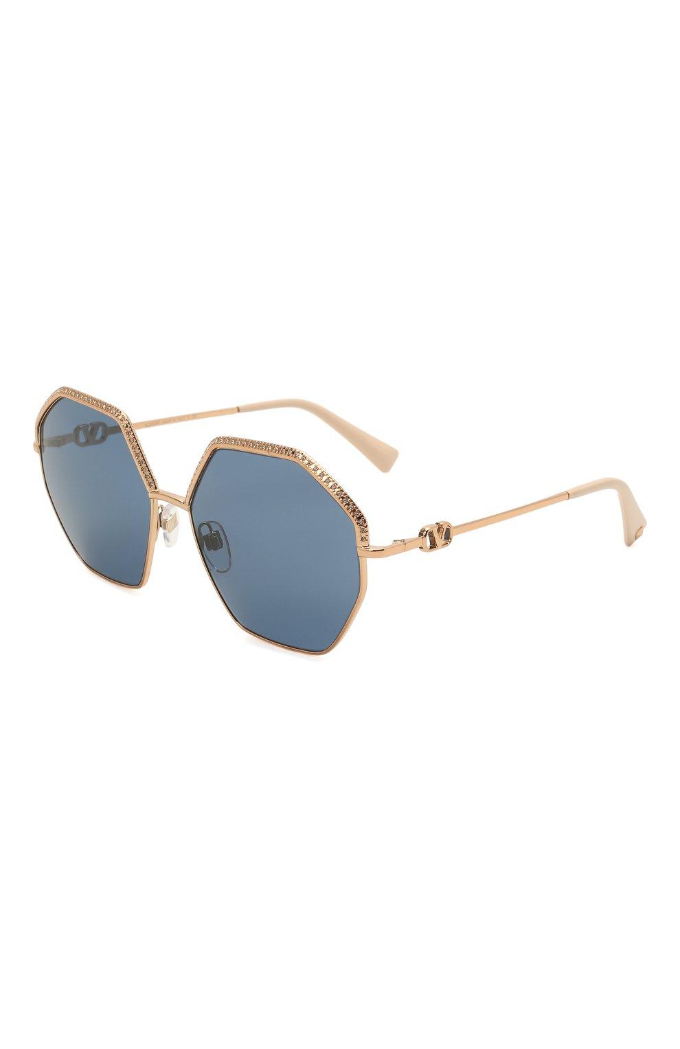 Женские солнцезащитные очки VALENTINO золотого цвета, арт. 2044-300480   Фото 1