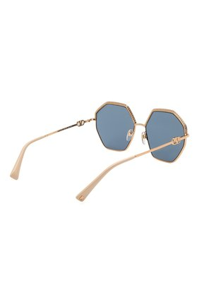Женские солнцезащитные очки VALENTINO золотого цвета, арт. 2044-300480   Фото 4