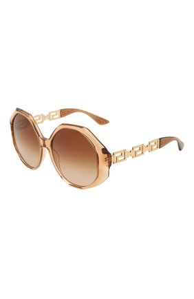 Женские солнцезащитные очки VERSACE коричневого цвета, арт. 4395-533313 | Фото 1