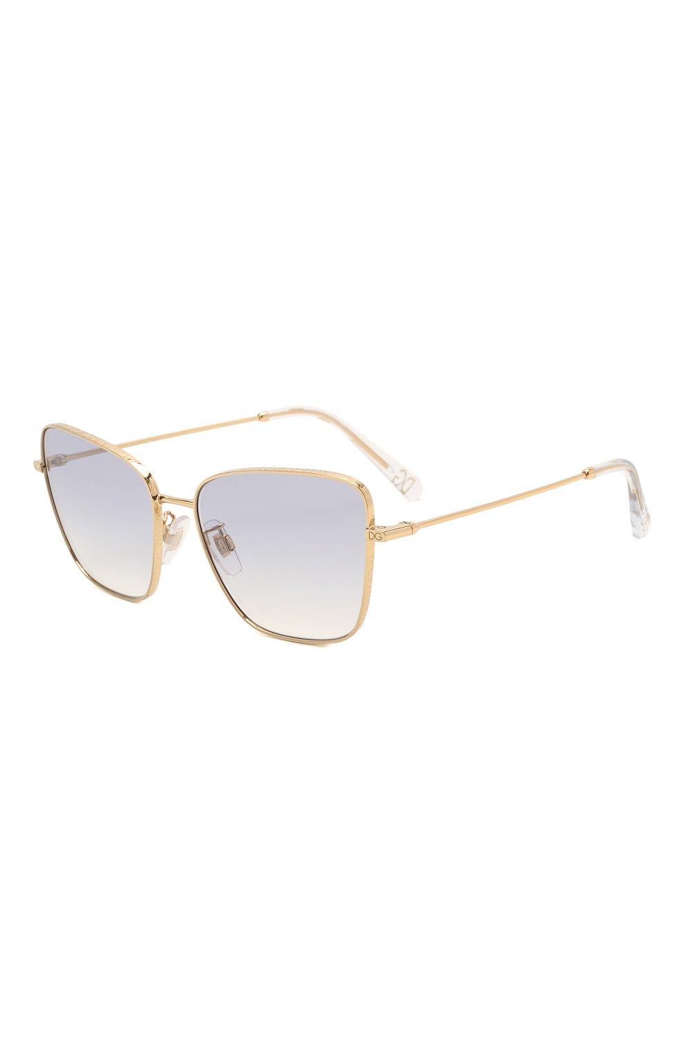 Женские солнцезащитные очки DOLCE & GABBANA светло-сиреневого цвета, арт. 2275-02/79 | Фото 1