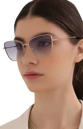 Женские солнцезащитные очки DOLCE & GABBANA светло-сиреневого цвета, арт. 2275-02/79 | Фото 2
