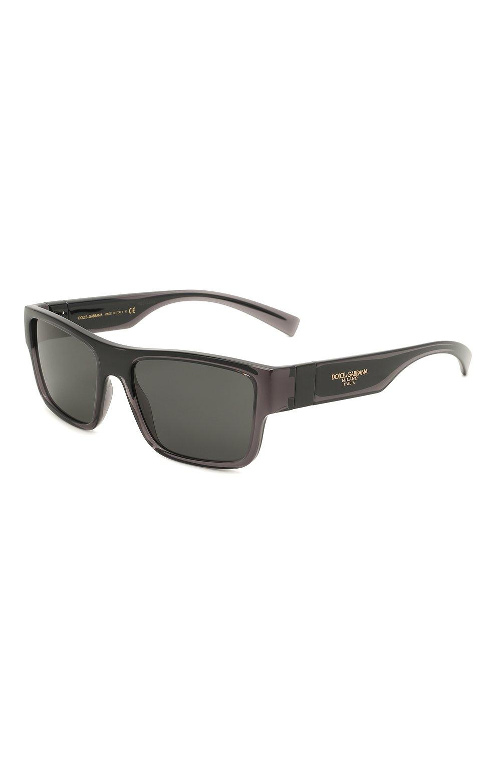Мужские солнцезащитные очки DOLCE & GABBANA темно-серого цвета, арт. 6149-325787 | Фото 1 (Тип очков: С/з; Очки форма: Прямоугольные; Оптика Гендер: оптика-мужское)