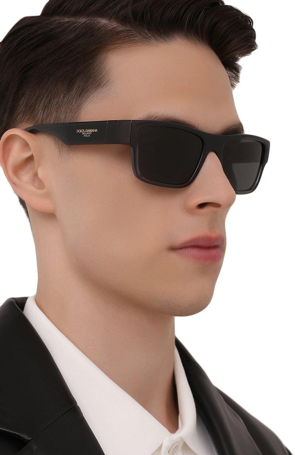 Мужские солнцезащитные очки DOLCE & GABBANA темно-серого цвета, арт. 6149-325787 | Фото 2 (Тип очков: С/з; Очки форма: Прямоугольные; Оптика Гендер: оптика-мужское)