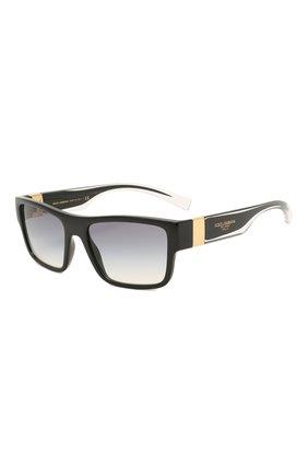 Мужские солнцезащитные очки DOLCE & GABBANA черного цвета, арт. 6149-501/79 | Фото 1
