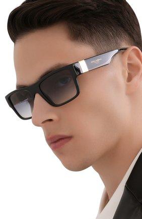 Мужские солнцезащитные очки DOLCE & GABBANA черного цвета, арт. 6149-501/79 | Фото 2