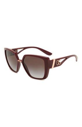 Женские солнцезащитные очки DOLCE & GABBANA бордового цвета, арт. 6156-32858G | Фото 1 (Тип очков: С/з; Оптика Гендер: оптика-женское; Очки форма: Прямоугольные, Бабочка)