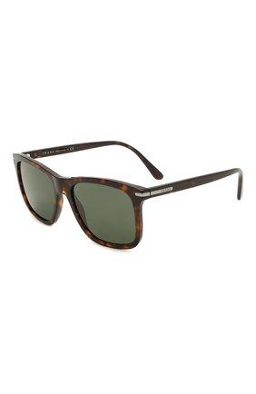 Мужские солнцезащитные очки PRADA коричневого цвета, арт. 18WS-2AU0B0   Фото 1 (Тип очков: С/з; Оптика Гендер: оптика-мужское; Очки форма: Прямоугольные)