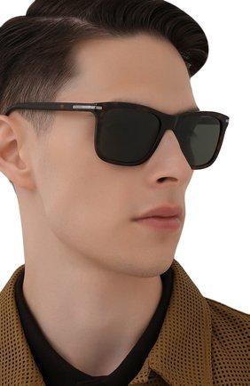 Мужские солнцезащитные очки PRADA коричневого цвета, арт. 18WS-2AU0B0   Фото 2 (Тип очков: С/з; Оптика Гендер: оптика-мужское; Очки форма: Прямоугольные)