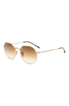 Женские солнцезащитные очки RAY-BAN золотого цвета, арт. 3565-001/51 | Фото 1