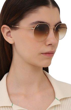 Женские солнцезащитные очки RAY-BAN золотого цвета, арт. 3565-001/51 | Фото 2