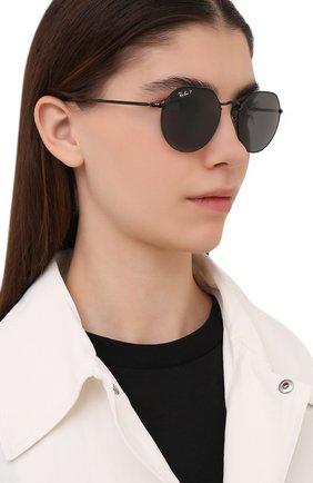 Женские солнцезащитные очки RAY-BAN черного цвета, арт. 3565-002/48 | Фото 2