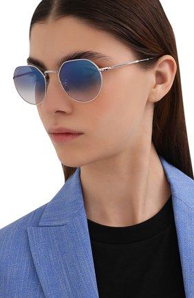 Женские солнцезащитные очки RAY-BAN голубого цвета, арт. 3565-003/3F | Фото 2
