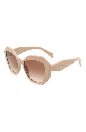Женские солнцезащитные очки PRADA бежевого цвета, арт. 16WS-VYJ0A6   Фото 1 (Тип очков: С/з; Очки форма: Бабочка; Оптика Гендер: оптика-женское)