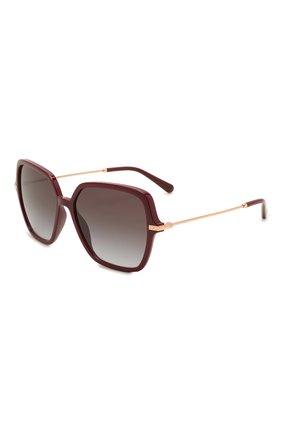 Женские солнцезащитные очки DOLCE & GABBANA бордового цвета, арт. 6157-32858G | Фото 1 (Тип очков: С/з; Очки форма: Квадратные, Бабочка; Оптика Гендер: оптика-женское)