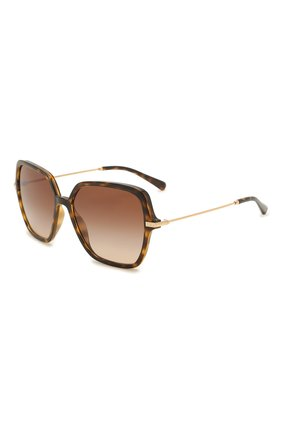 Женские солнцезащитные очки DOLCE & GABBANA коричневого цвета, арт. 6157-502/13   Фото 1